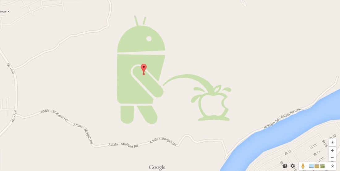 Google Maps Android Apple