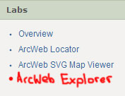 Add your own link to ArcWeb Explorer API