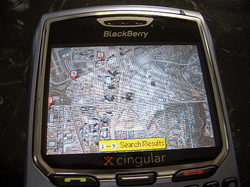 Google Maps on Blackberry