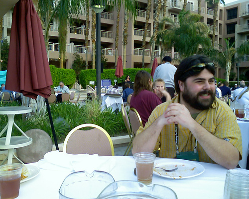At the Dev Summit Dinner