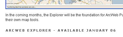 ArcWeb Explorer Due Date