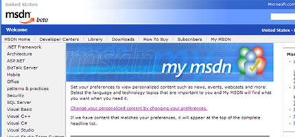 My MSDN Screen Capture