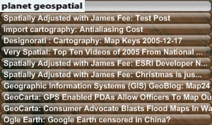 Planet Geospatial RSS Widget