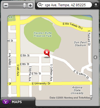 Yahoo! Maps Widget